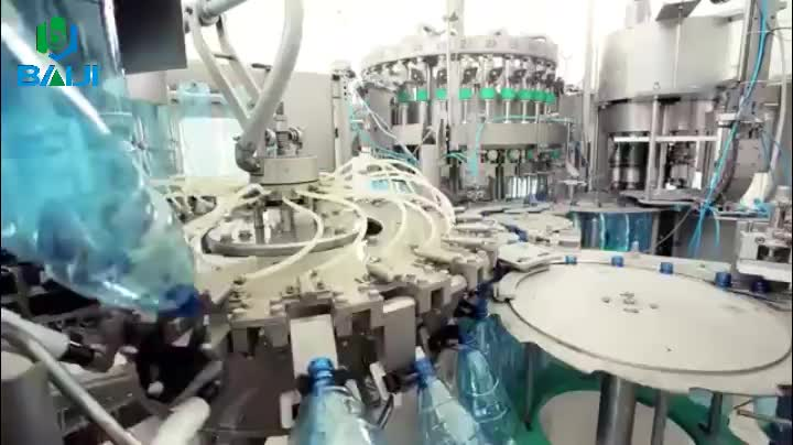 Automatic carbonated soft drink / soda water rinser filler capper bottling plant machine for sale
