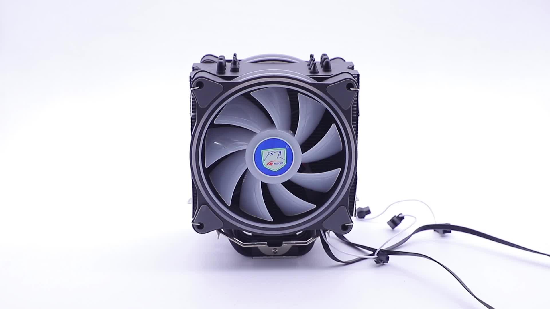 Cao 4pin Rgb Intel Và Amd 120 Mm Trường Hợp 6 Heatpie Cpu Cooler Với Đôi Rgb Làm Mát Pwm Fan