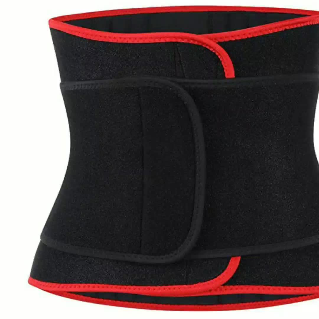 二重層汗ベルト、調節可能なネオプレンウエストトリマース/
