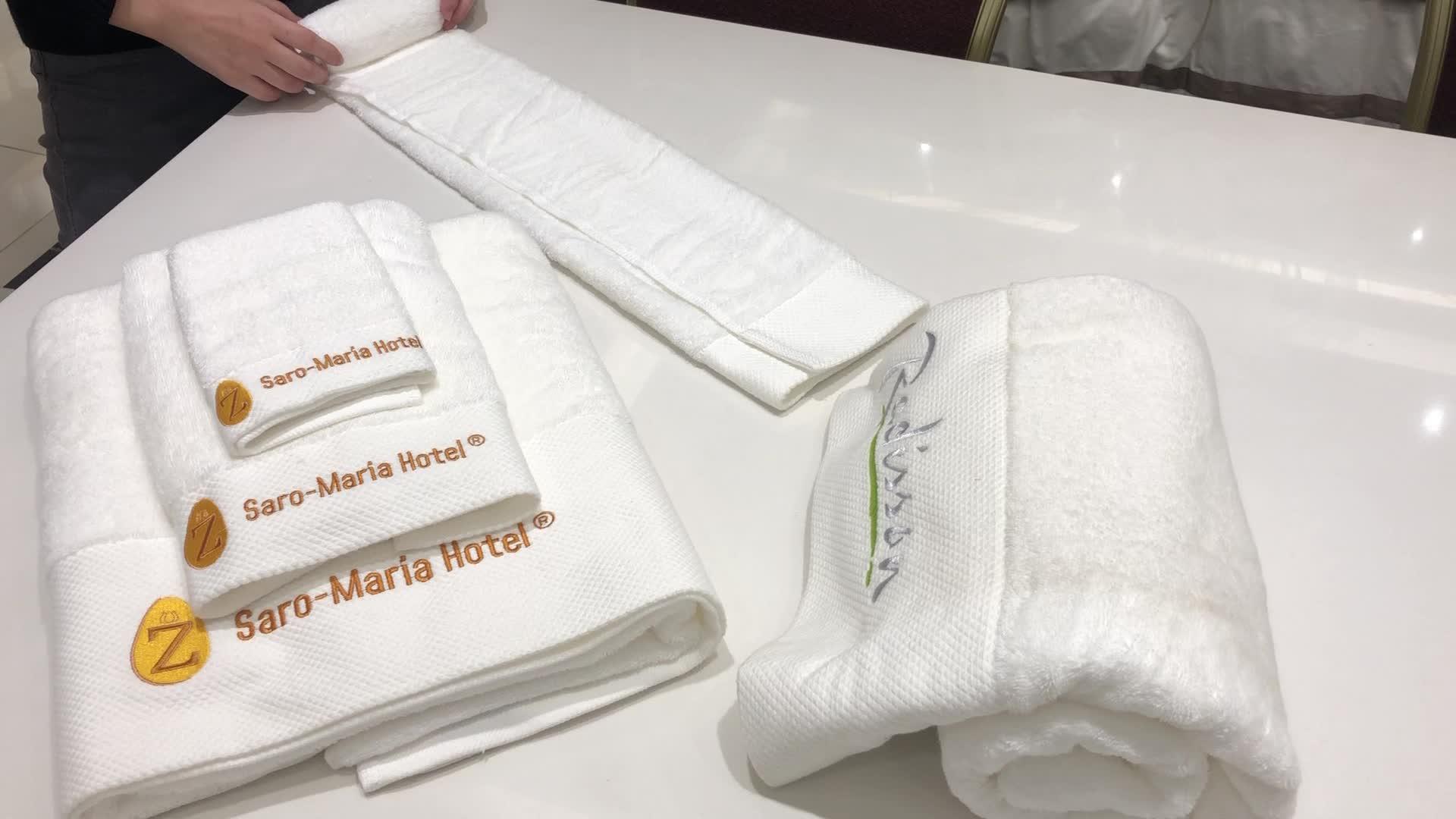 Mẫu Miễn Phí 100% Cotton 5 Sao Khách Sạn Sang Trọng Khăn Tắm Đặt Trong QUẢNG CHÂU