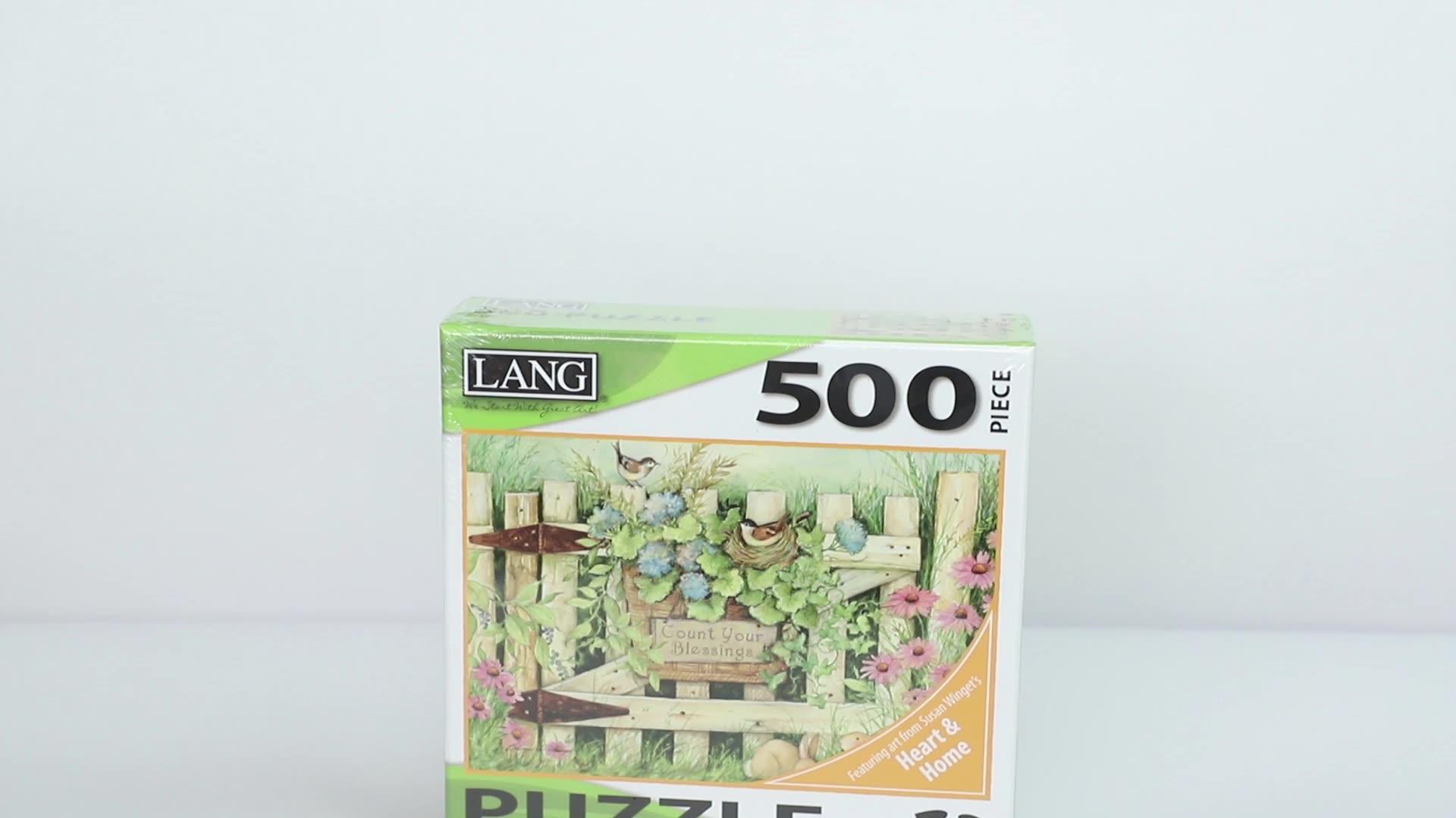 Meest Populaire Aangepaste Zeefdruk Art Papier 3D Puzzel Games Voor Party