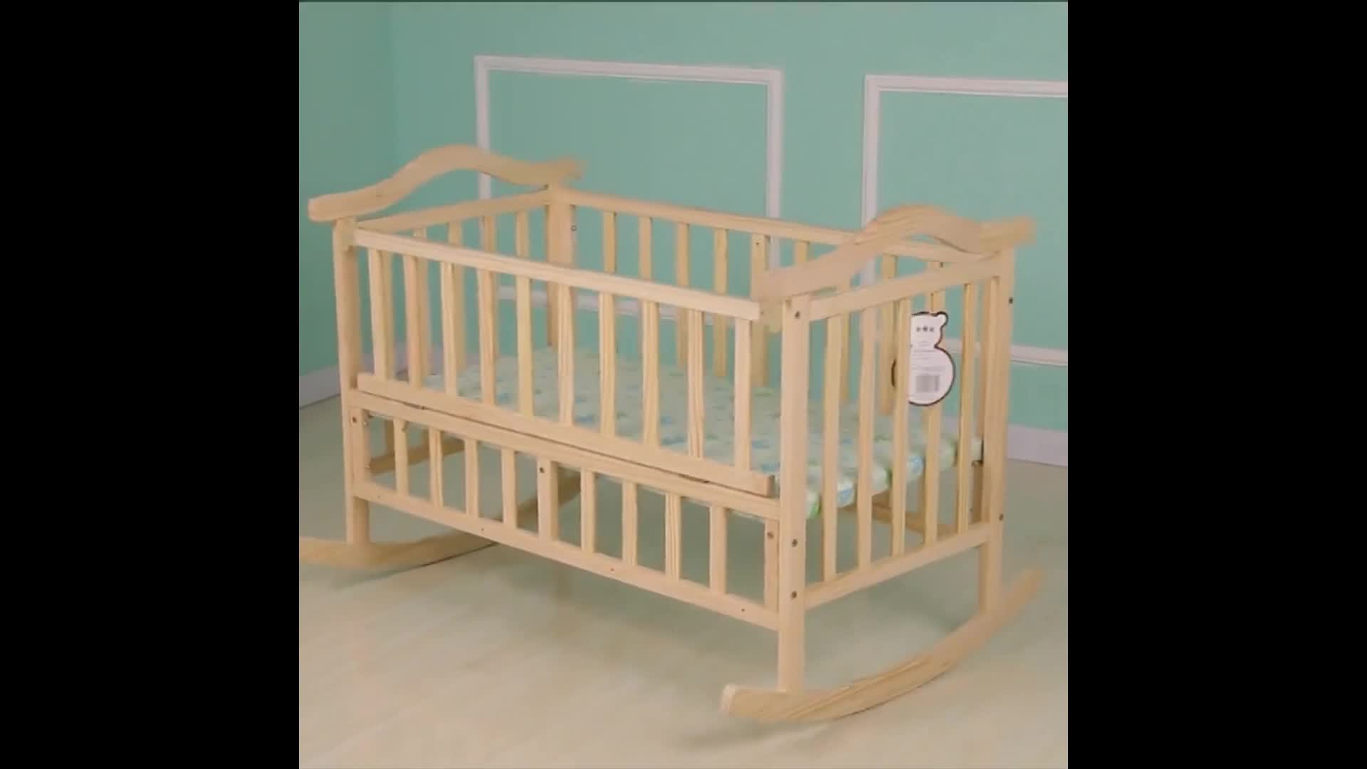 Wholesale High Quality Portable Wooden Baby Cribs Solid
