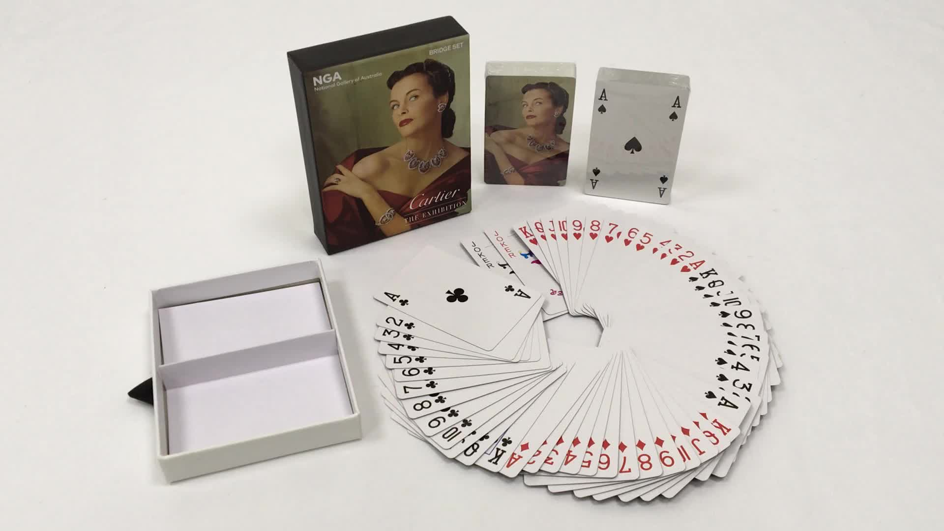 OEM Competitive Price playing cards custom printing paper playing cards in drawer box
