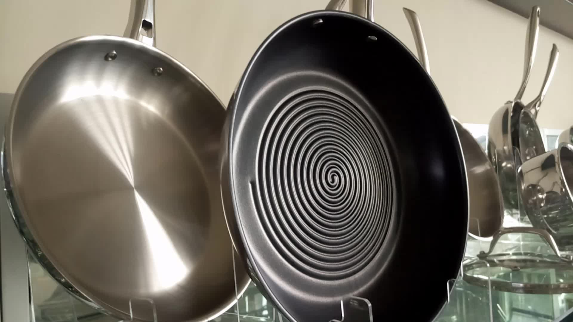 stainless steel  304 induction bottom 0.6mm body  frypan  20cm22cm24cm28cmfrypan