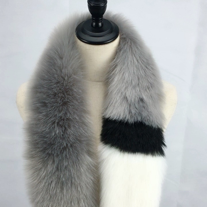 2019 New Arrival Stock Women Faux Fox Fur Collar Scarf