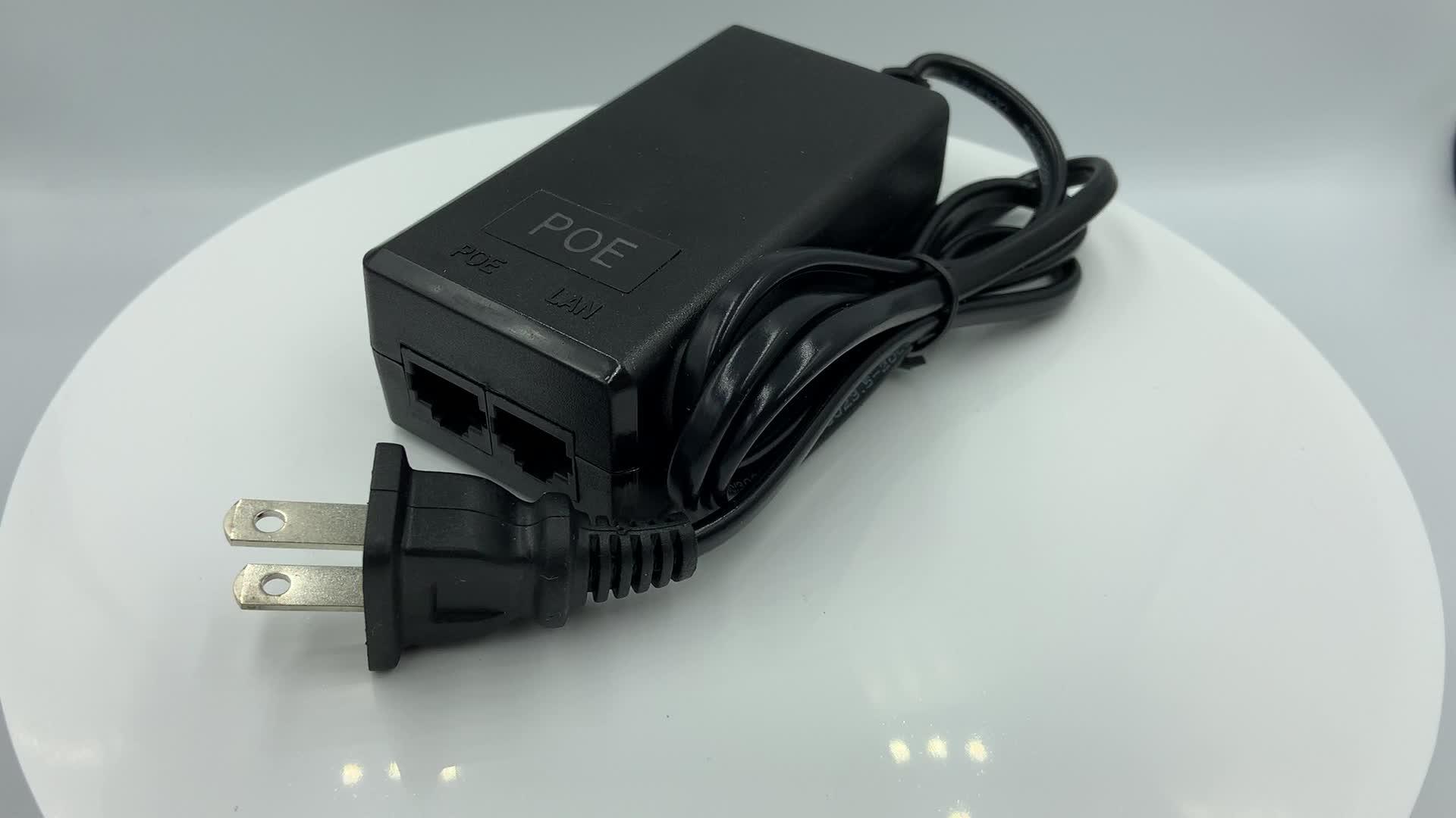 Profesyonel 48V 1.0A PoE Adaptörü patch panel