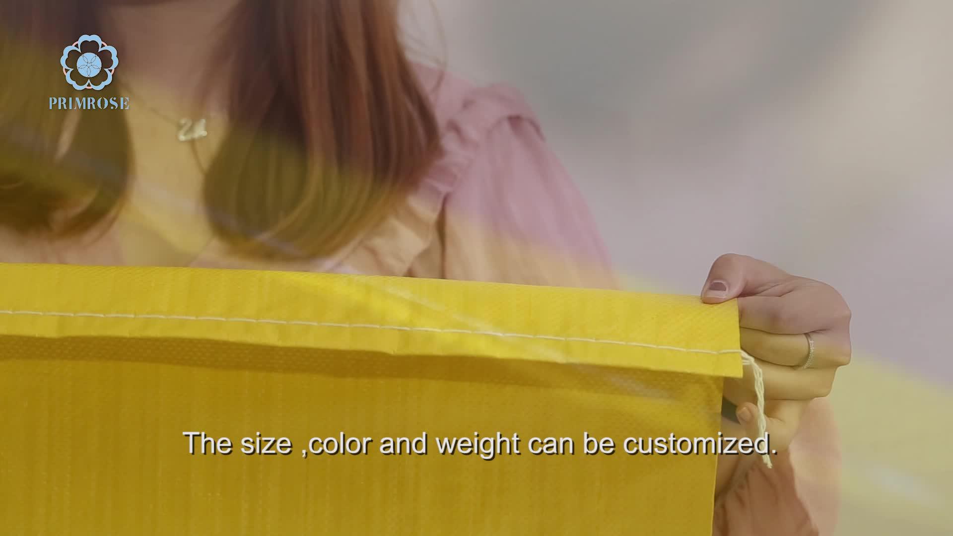 Tarım 25kg 50kg mısır plastik sarı pp dokuma çanta