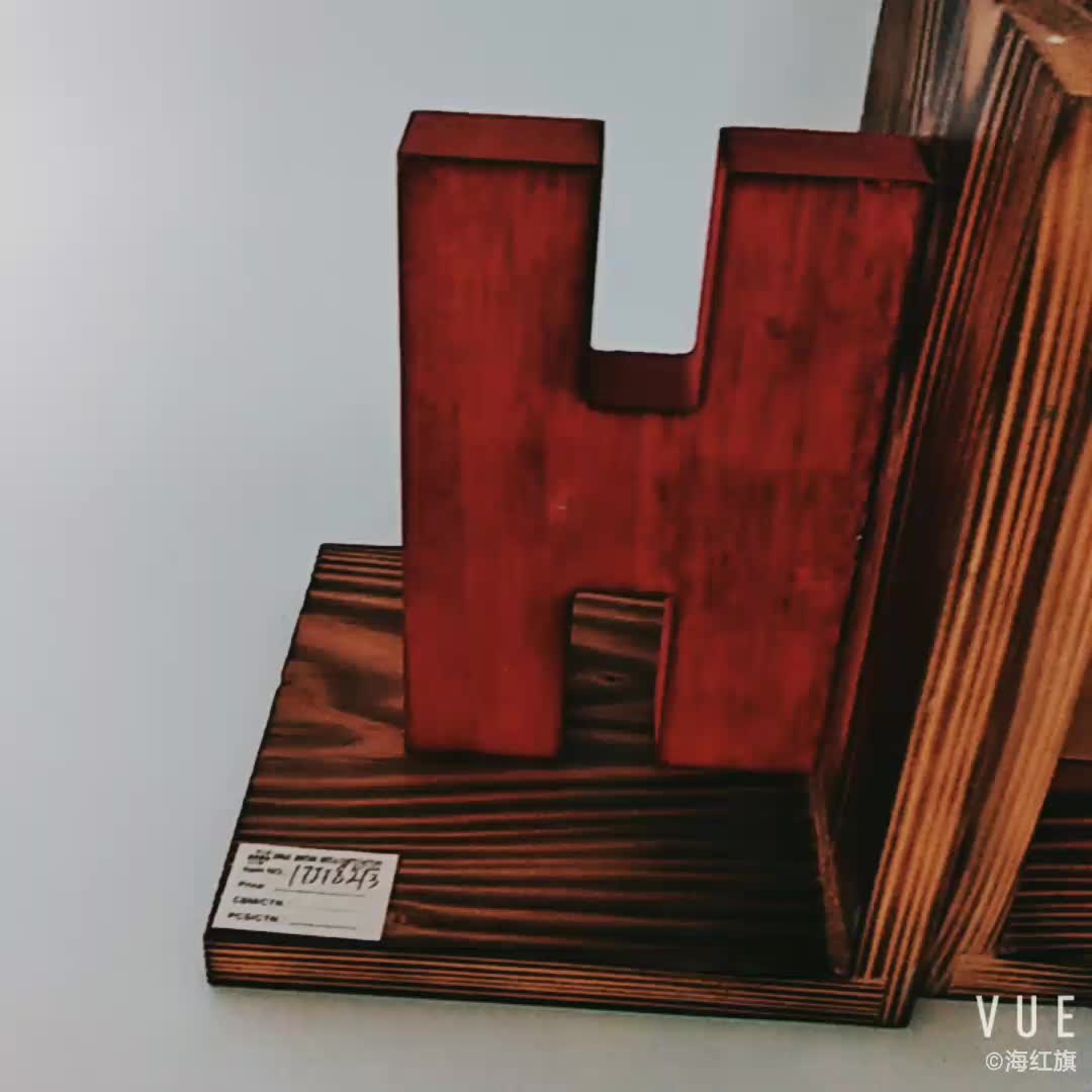 High quality factory price Simple Design Wooden Book Stand bookend holder