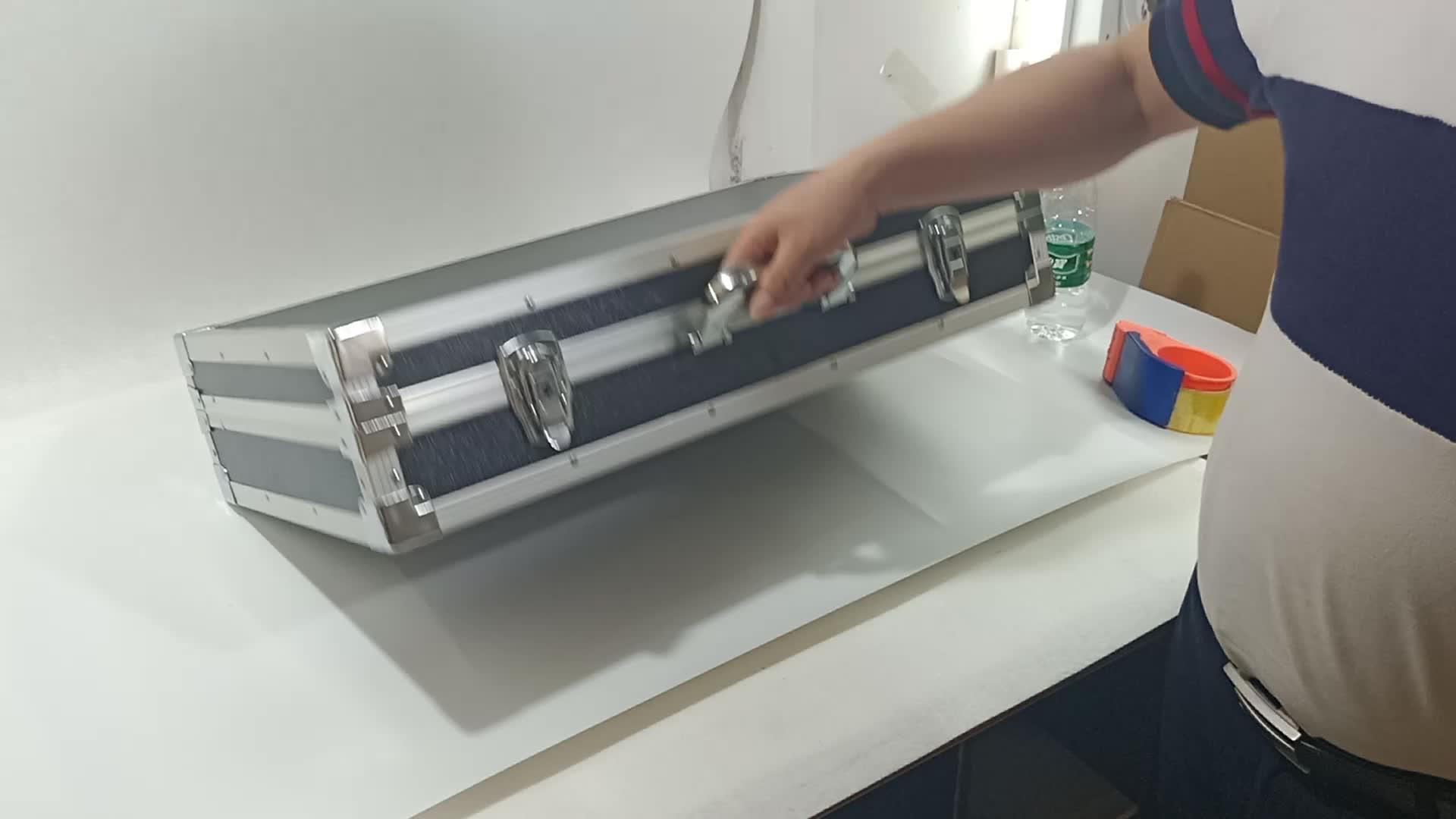 Черный Высококачественный АБС дисплей корпус алюминиевый инструмент корпус оборудование storge чехол с eva пеной