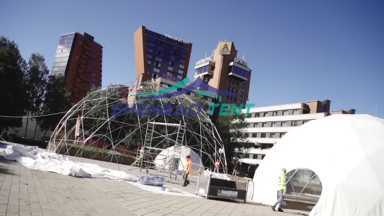 คุณภาพสูงกลางแจ้ง Geodesic Dome กองทัพทหาร Camping เต็นท์สำหรับขาย