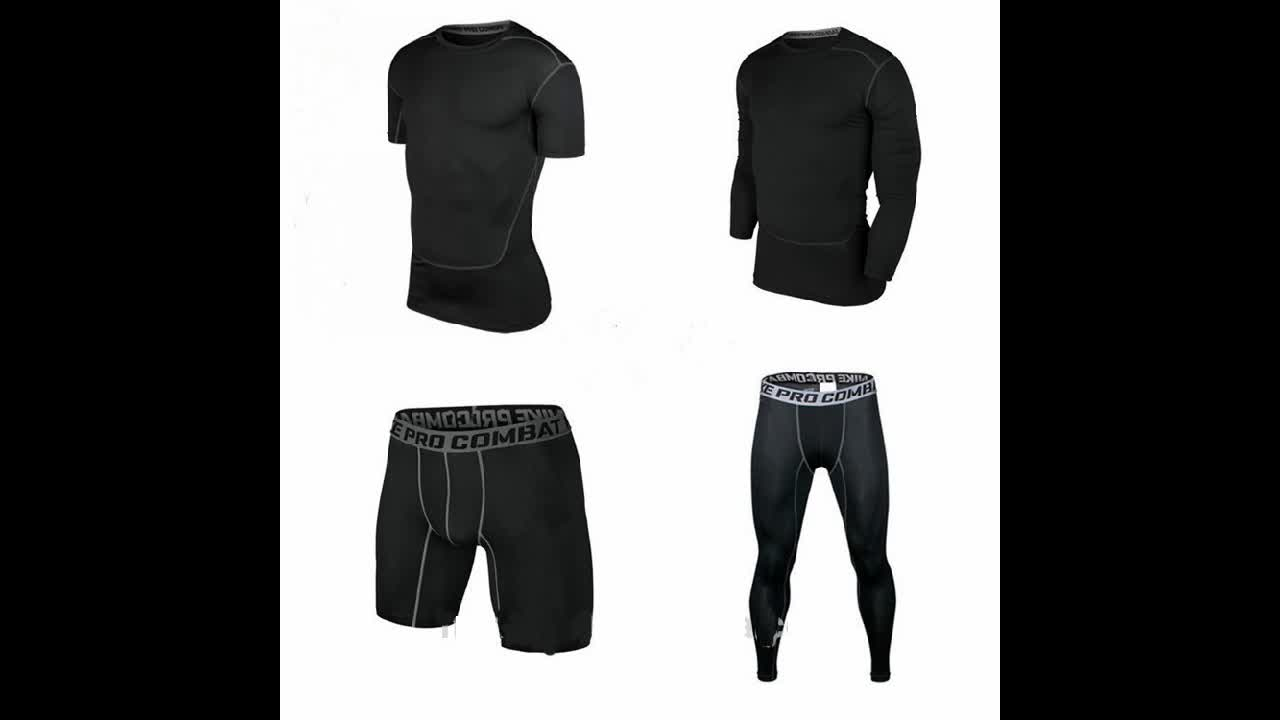 Good Elasticity Fitness Training or Running Compression Shorts Mens Compression Shorts