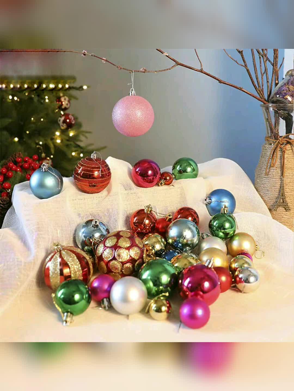 Enfeite de Árvore de natal Brilhante Transparente Bola De Natal Decoração Do Partido