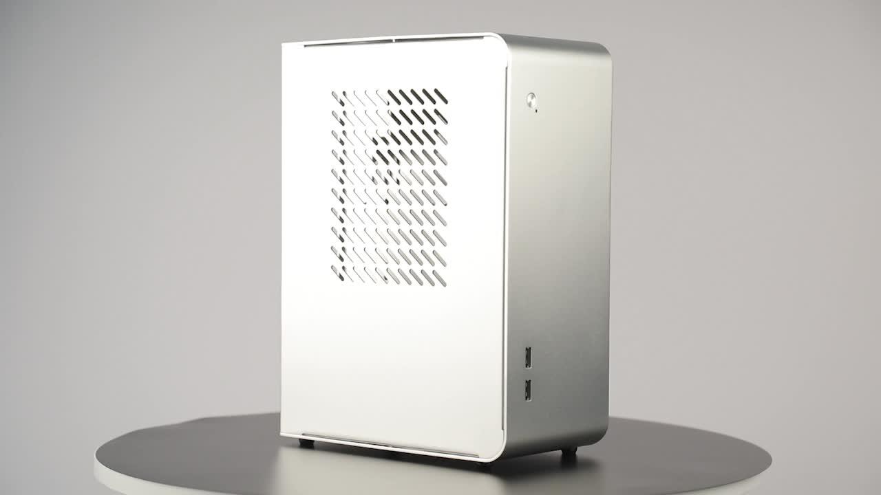 RGeek U110 Mini ITX وحدة كمبيوتر بدون مروحة الألعاب كابينة كمبيوتر مع بطاقة الفيديو قوس وحدة معالجة خارجية للحاسوب الصانع