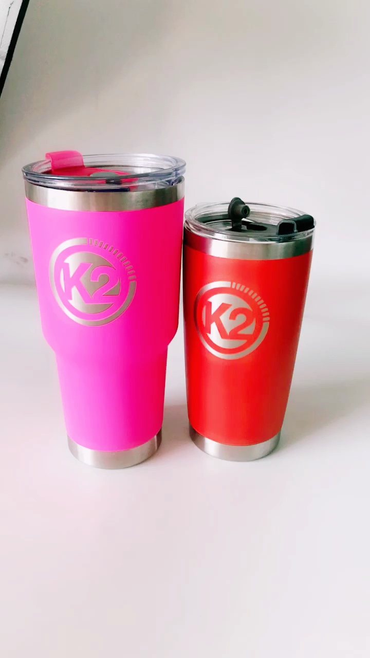 Double Wall Stainless Steel Vacuum Insulated Tumbler, 30-Ounce , Color inside and outside 304 double stainless steel tumbler