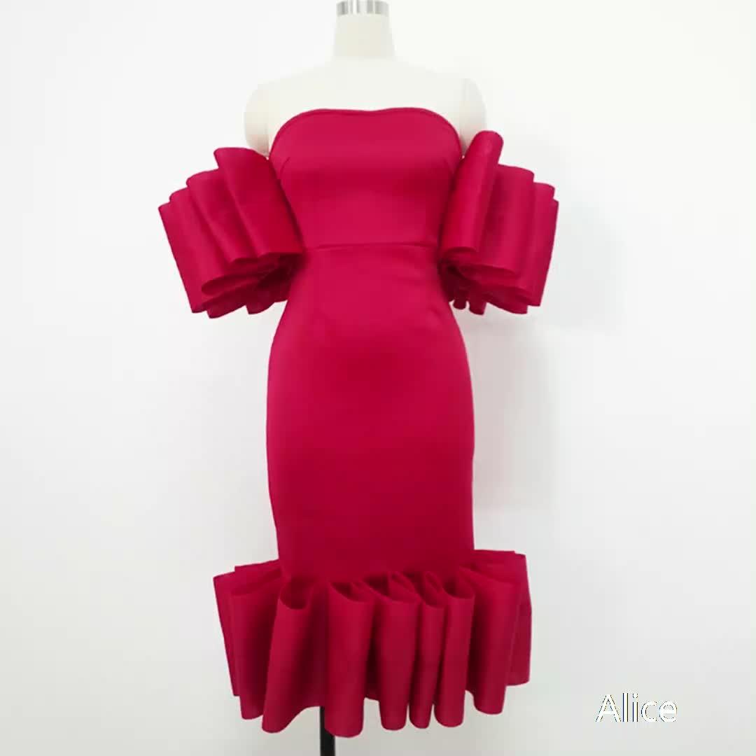 女性のセックスのドレスヨーロッパとアメリカのプラスサイズのホットスタイル夏胸セクシーなフラッパードレスイブニングドレス