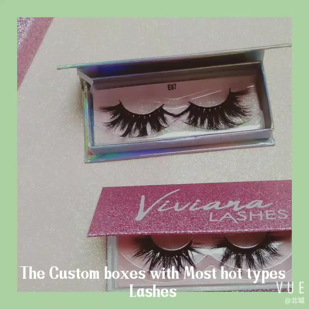 New Own Brand 3d Mink Lahes With Custom false eyelashes extension Packaging and private label
