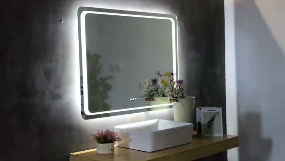 Illuminated Mirrored Bathroom Cabinet Ip44 Rated: Ip44 Rated Lighted Bathroom Illuminated Mirror Bluetooth