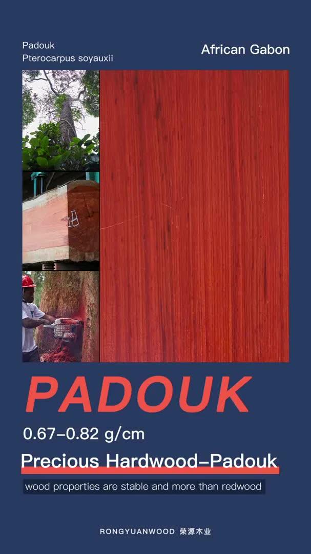 El precio de primera mano de KD/madera/junta de la paleta para venta Padouk... África madera y redwood