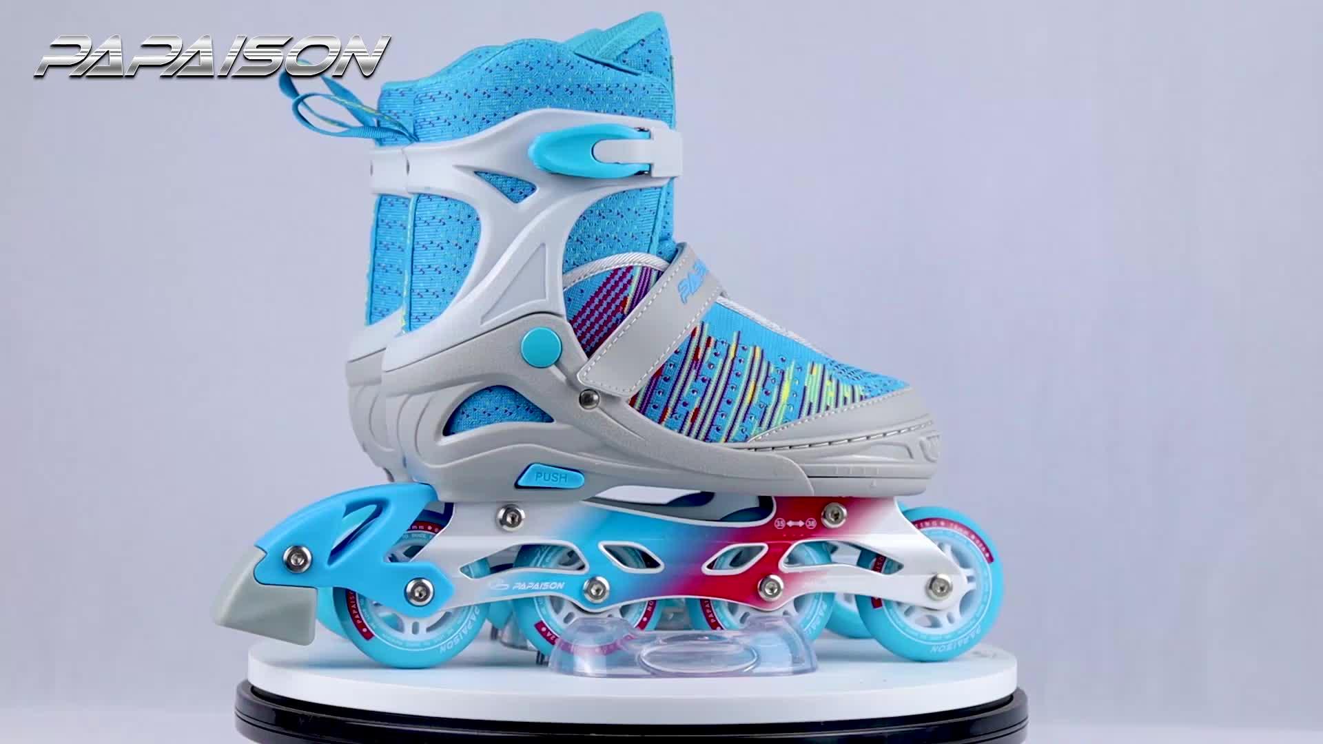 PAPAISON взрослых patins роликовые лезвия коньки роликовые лезвия 4 колеса коньки обувь для детей для мужчин женщин