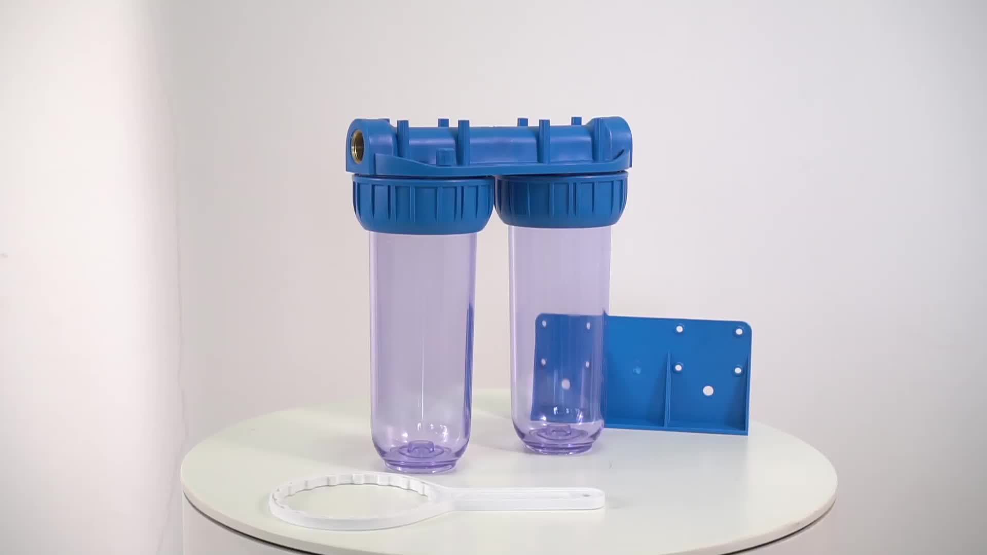 Double clear water filter machine with 2 x 10 filter housings