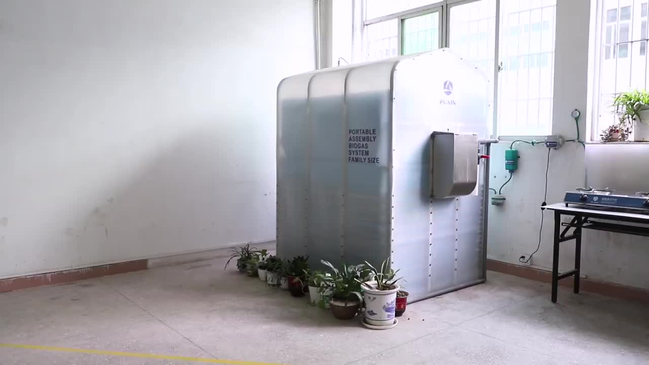China Puxin Mini Portable Biogas Anaerobic Digester for Cow Manure Disposal