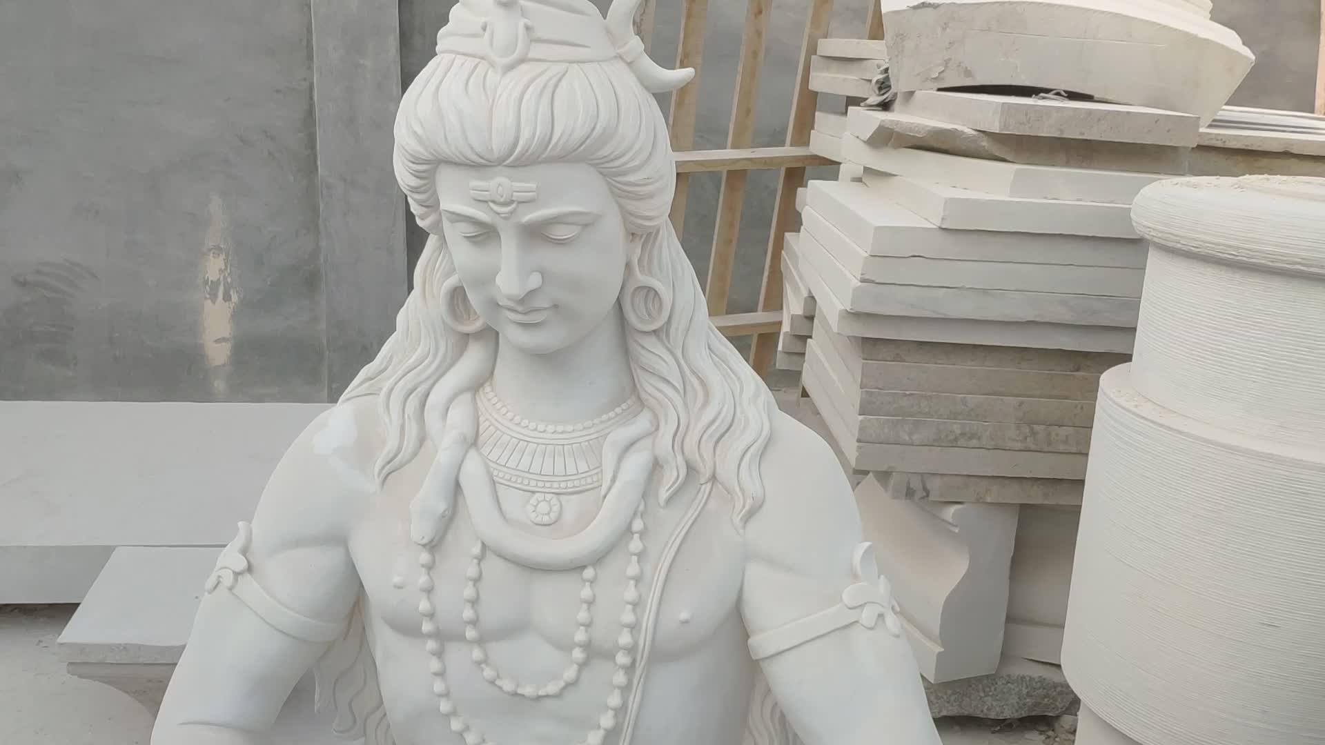 Esterno decorativo antiquariato Indiano marmo dio Indù scultura di grandi dimensioni signore Shiva statua di pietra per la vendita