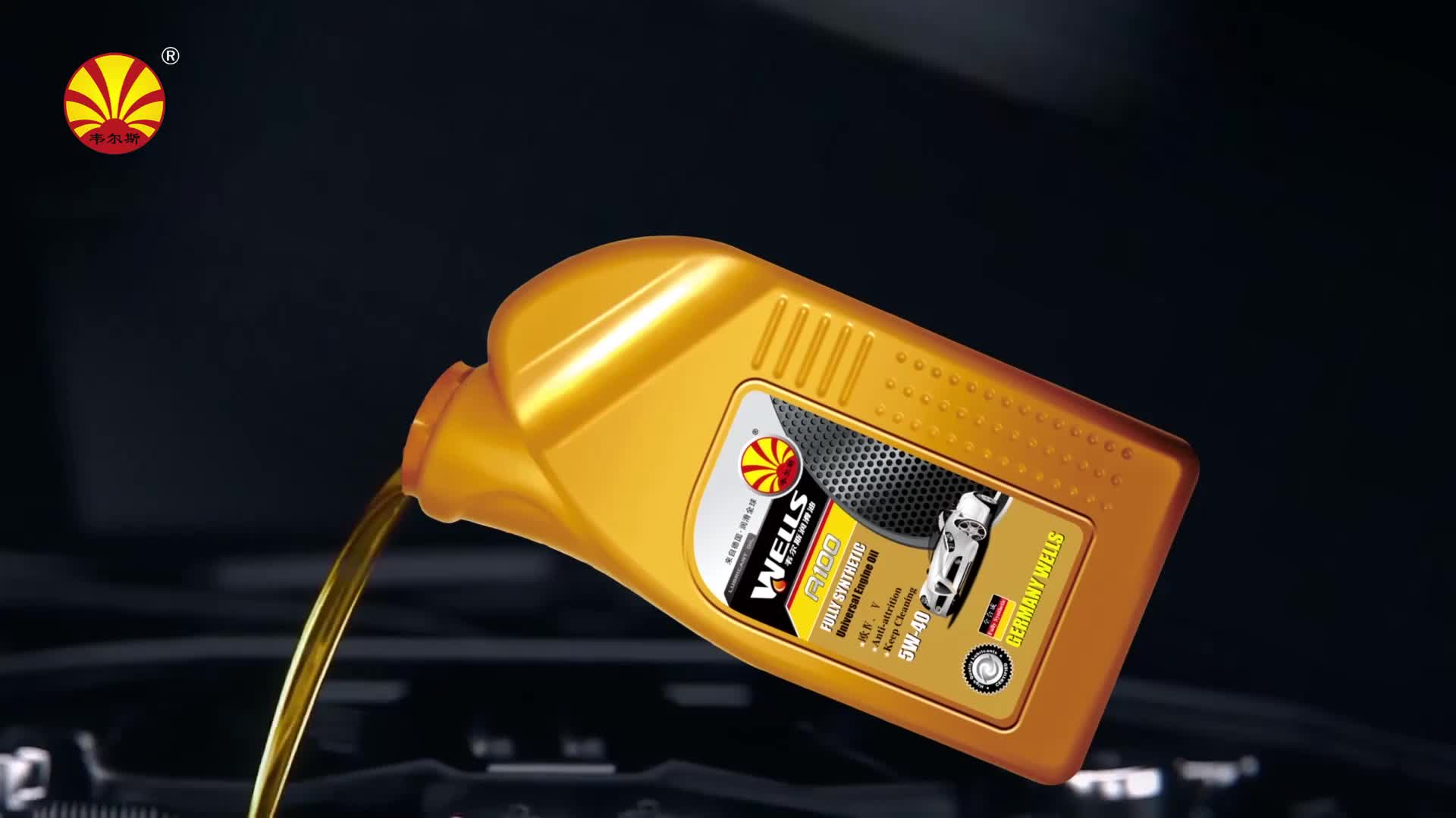 Excellent synthetic gasoline engine oil for car Wells A8 10W30