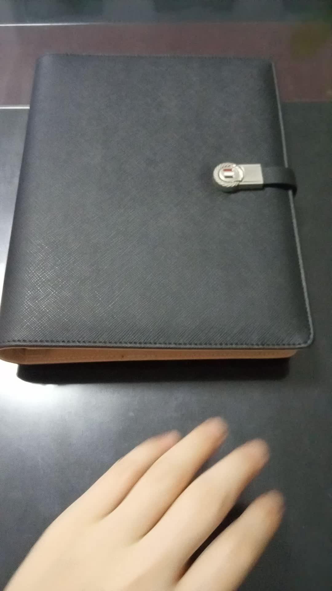 Cartera de negocios planificador cuaderno diario con Banco de potencia y unidad flash usb