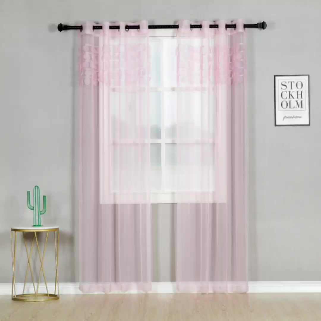 1pcs Solid Window Curtain Drape Panel Daylight Protection Sheer Scarf Valances Curtains For  Window Tulle Curtains