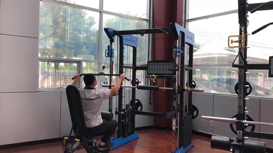 China fabricante Placa carregada em casa equipamentos de ginástica populares multi funcional trainer smith máquina uma máquina um ginásio exercício