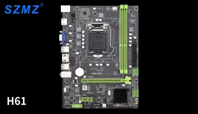 SZMZ gaming performance manufacturer quality lga 1155 ddr3 motherboard