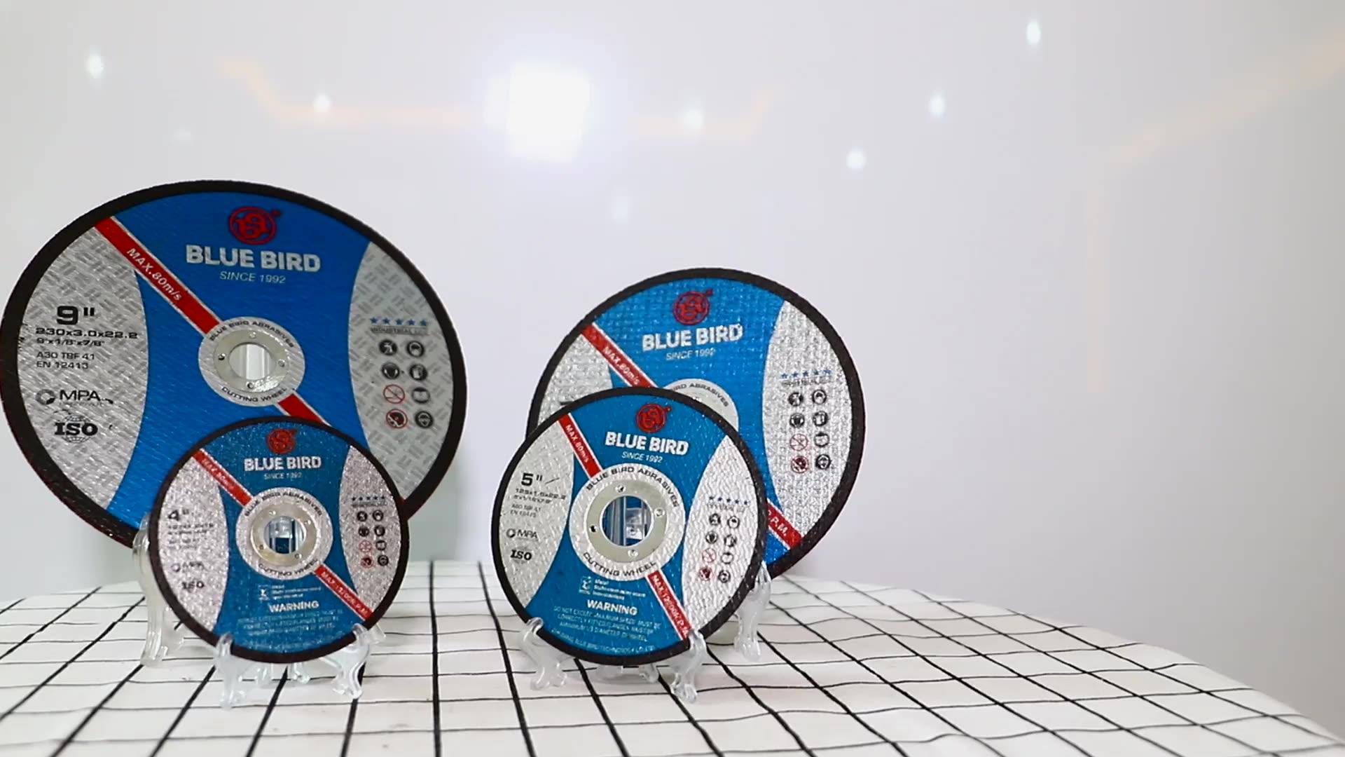 Ücretsiz örnek Bluebird 4 inç tekerlek ücretsiz çelik kesme elması tek diskli makine