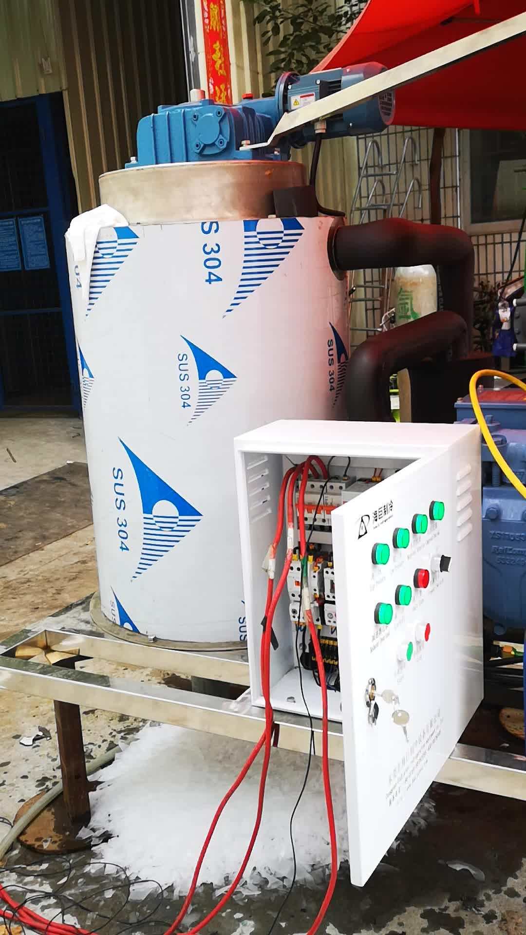 Salzwasser/Meerwasser scherbeneismaschine 1000kg/day