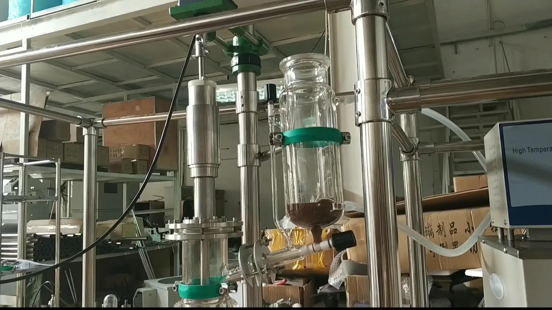 Turnkey system for cannibis oil extraction molecular distillation equipment