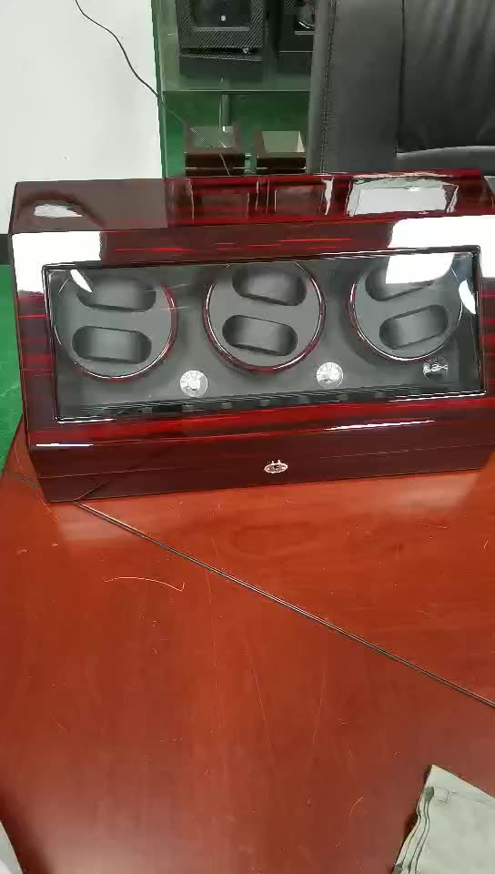 Time partner custom luxury watch slide box   and watch winder with LED