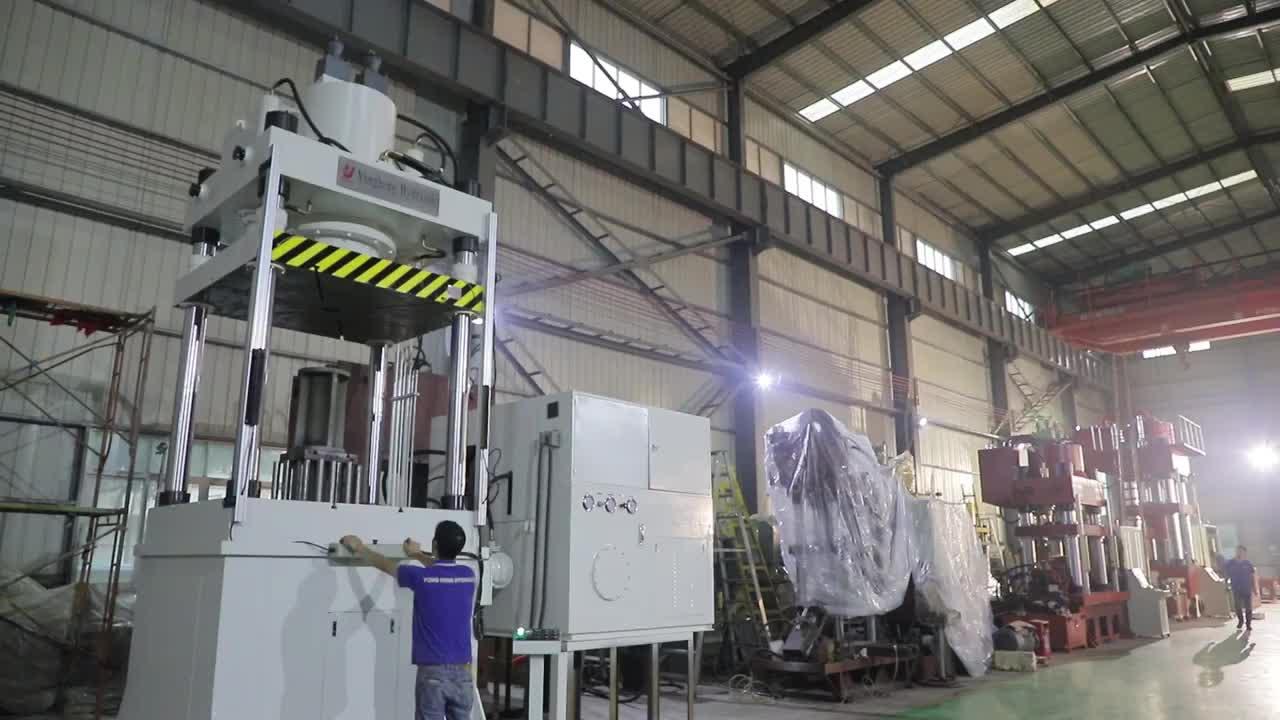 Yongheng Hydraulic Y28-1200Ton High Productivity Servo Control Four Pillars Cold Drawing Car Frame Machine