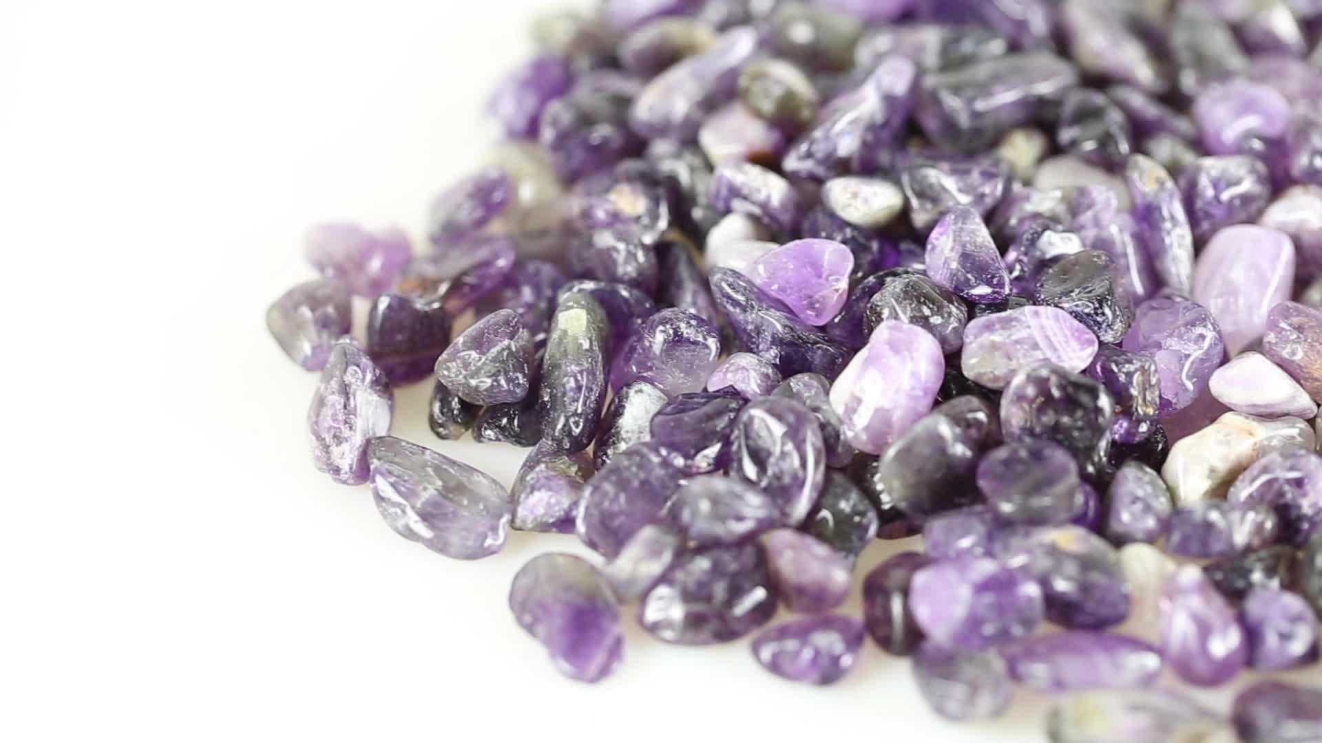 HJT 천연 자수정 하락 장식 돌 가격 도매