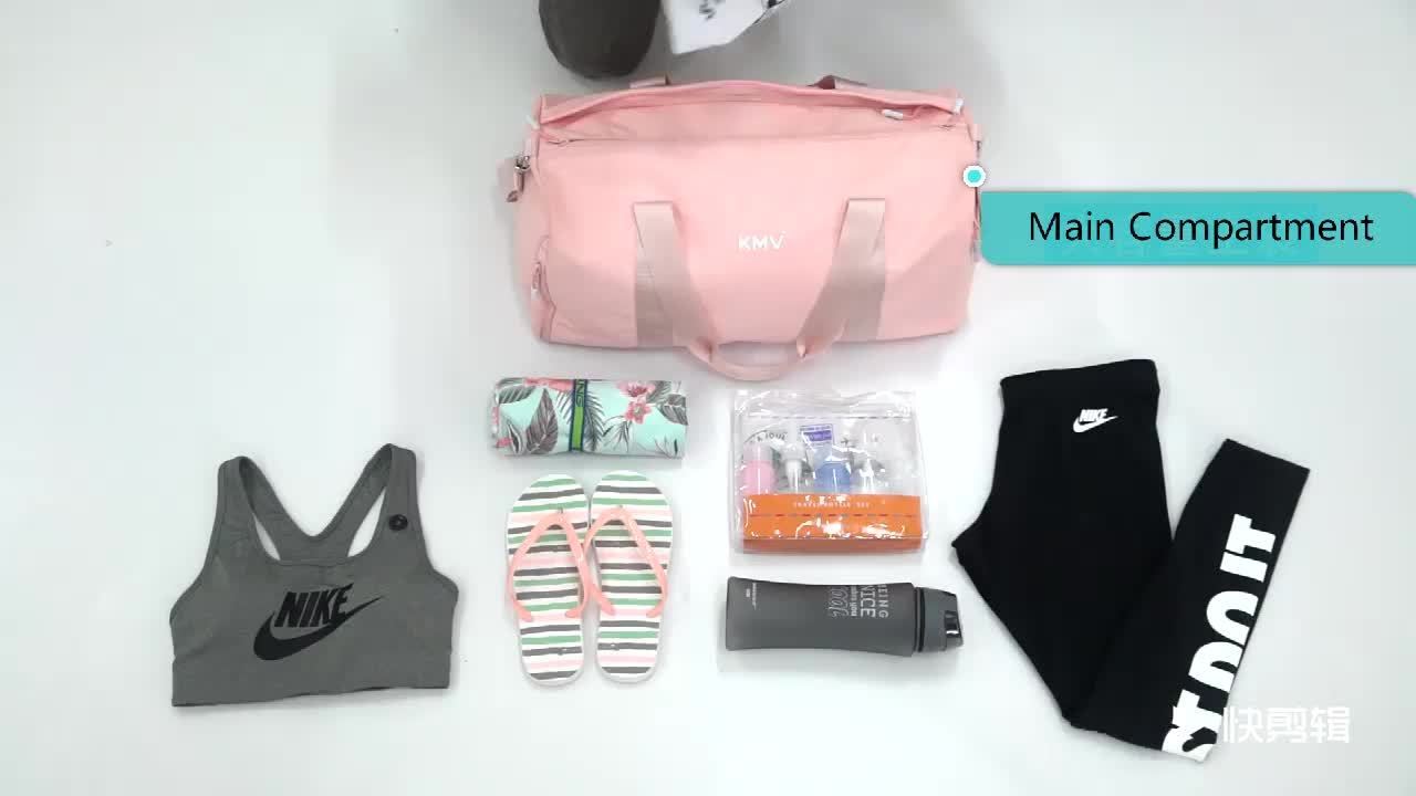 Custom Woman Wet Dry Depart  Sport Gym bags with Shoe Compartment