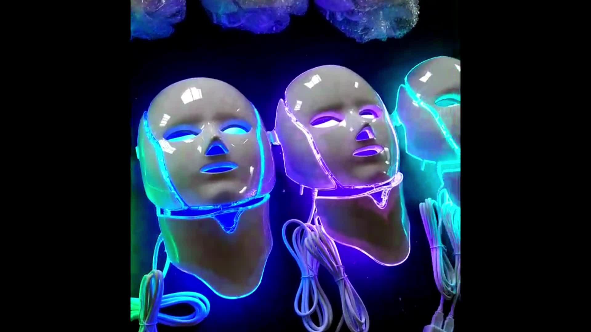 赤外線光面とネックホワイトニングフェイシャルマスク顔リフティング led ライト治療マスク
