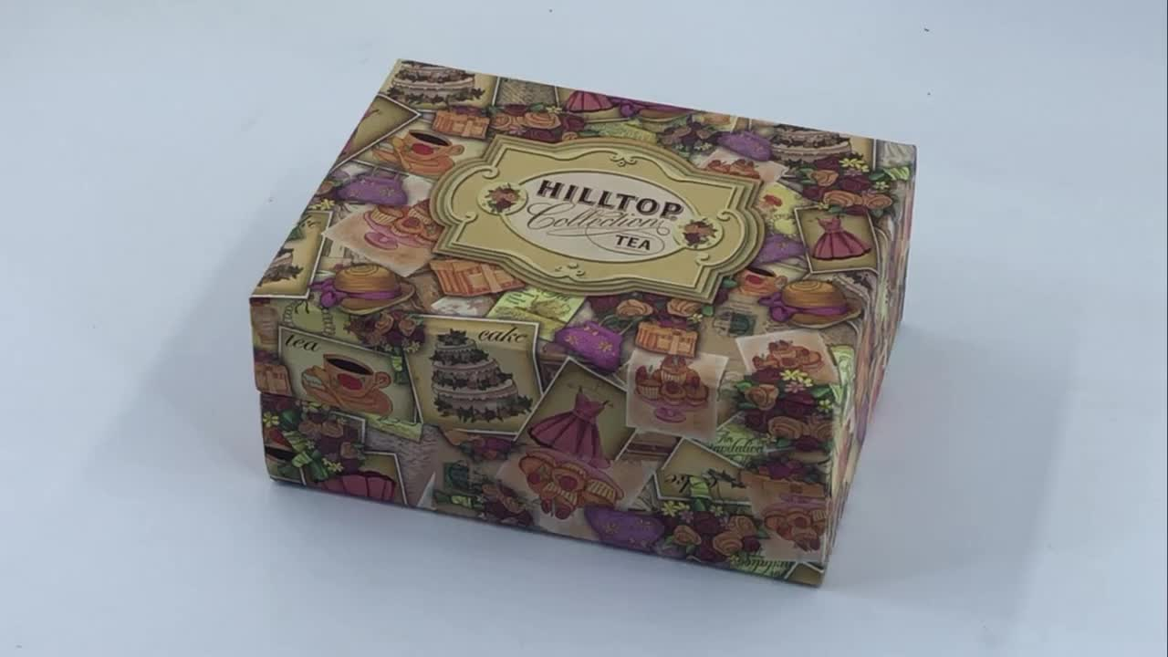 OEM Custom Printed Magnetic Closure Tea Packaging Contains two paper tube boxes Folding Gift Box