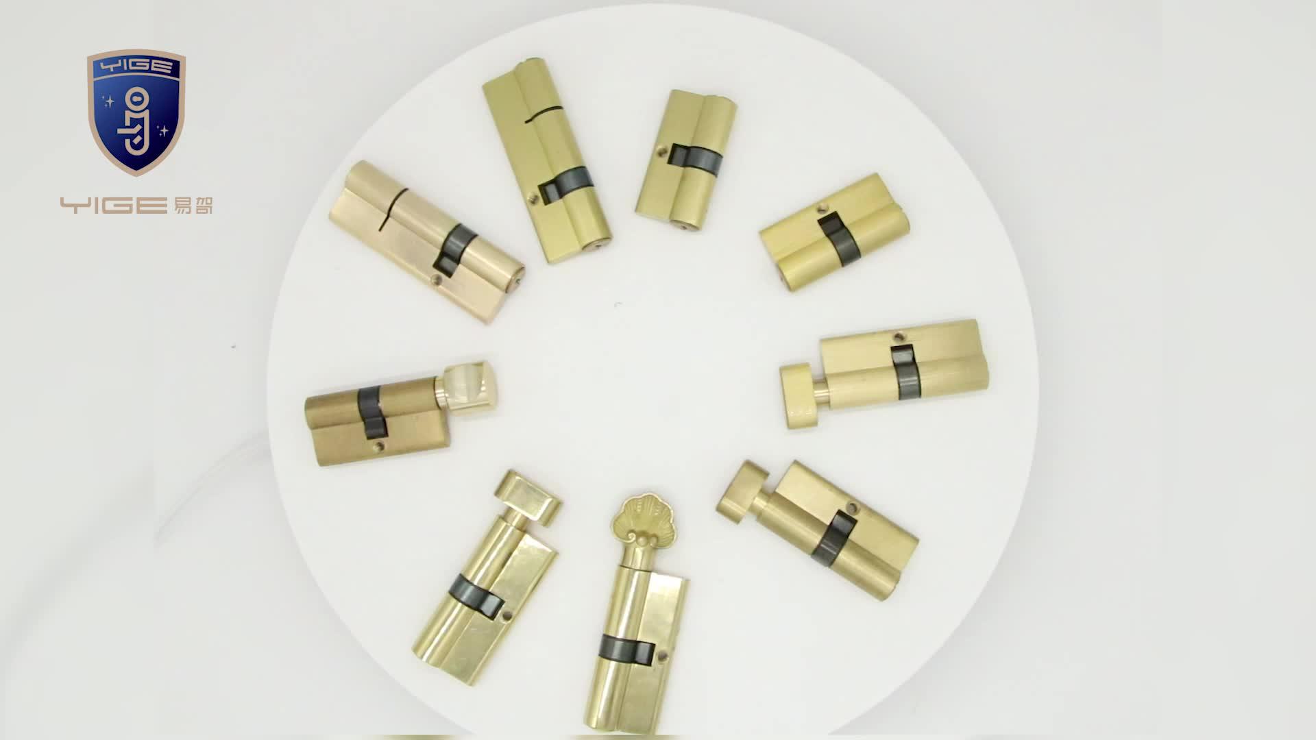 Prix usine matériel en laiton serrure à cylindre