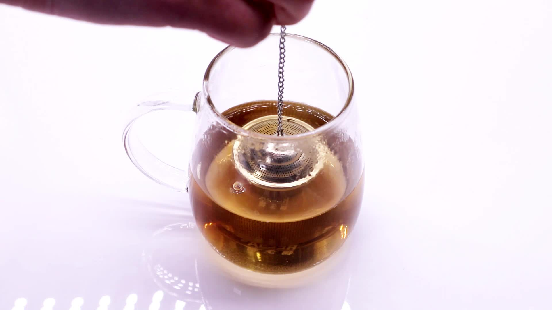 Rose Gold Loose Leaf Tea Infuser (Set of 2) with Tea Scoop and Drip Tray - Ultra Fine Stainless Steel Strainer & Steeper