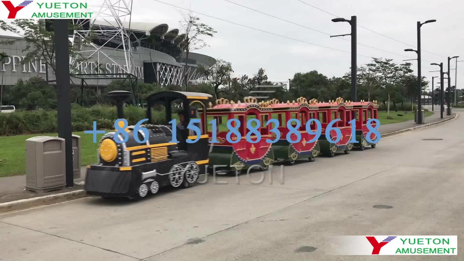 Adulto Passeios Bateria Operado Passeio Em Trem Expresso Trackless Elétrica Conjunto Para Parque De Diversões