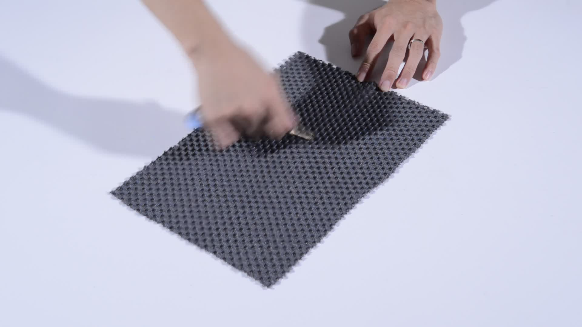 アンチスリップエコテックス認定冷却 3D ポリエステルエアメッシュ生地のため Anran からベビーカークッションテキスタイル