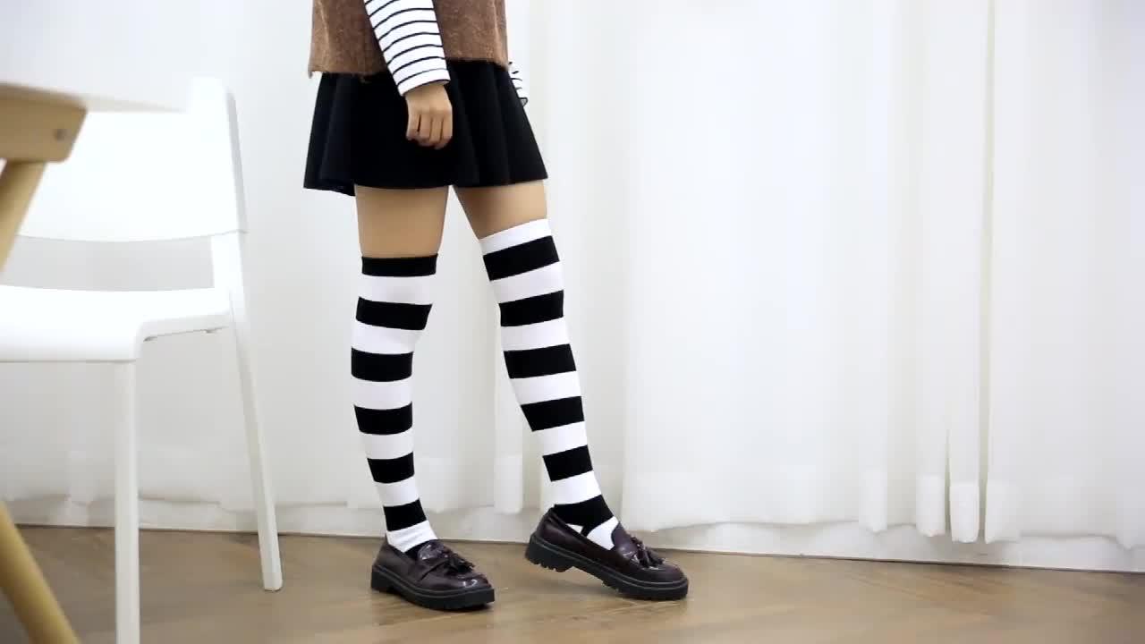 FY-1838ญี่ปุ่นสาวการ์ตูน3dสัตว์เข่าสูงถุงเท้าหลอด
