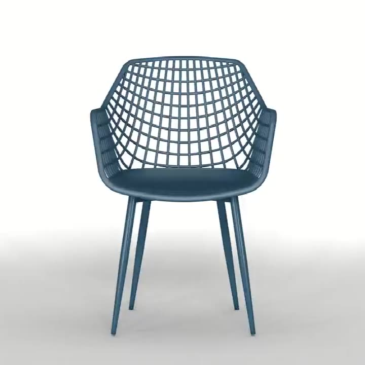 Furniture Mesh Chair Outdoor PP Seat Plastic Garden Chairs Factory Plastic Modern Design China High Quality Outdoor Household