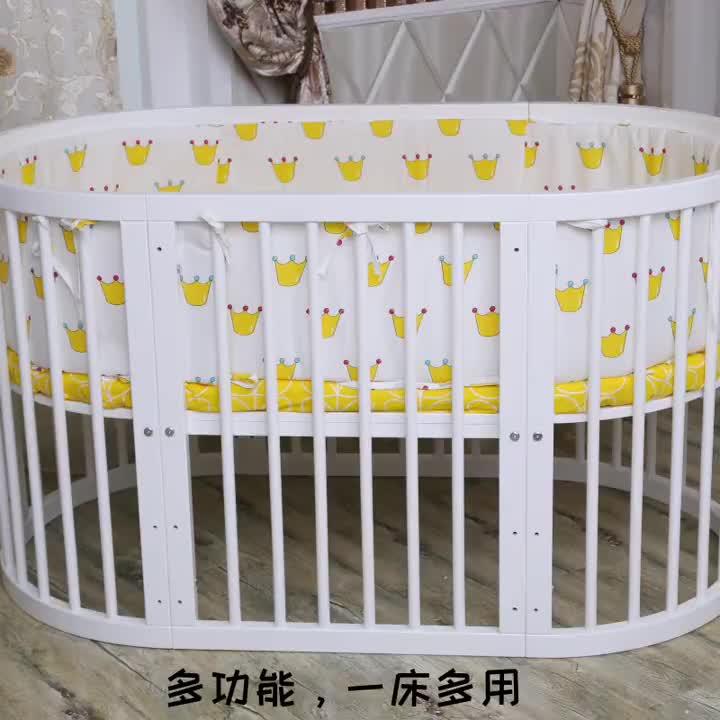 Custom 현대 safe 새 zealan pine wood 컨버터블 크래들 침대 baby cot