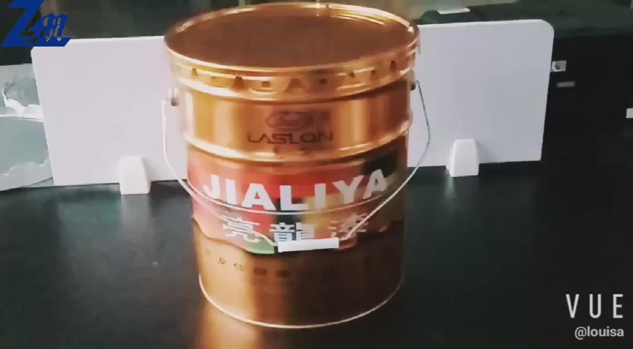 18 Liter Eimer für industrielle Zwecke, 18L-Exportverpackung aus Metall, Farbeimer mit Stollendeckel