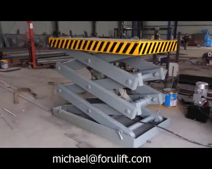 3-5 tons automatic aerial adjustable height work platform