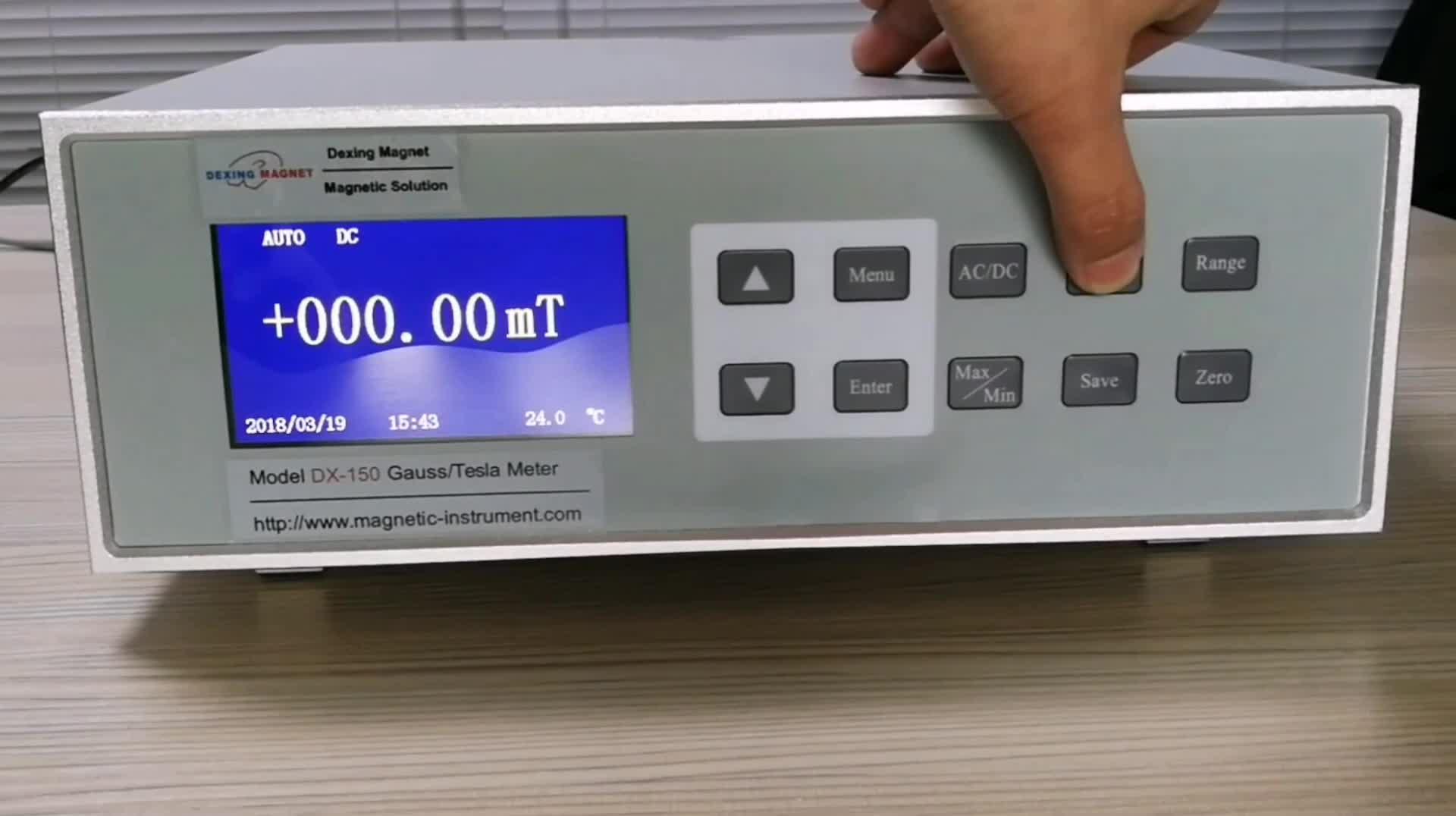 DX-150 AC/DC gauss meter/tesla meter